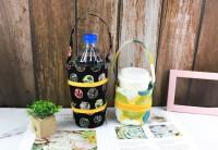 PB-80018(01-04) 花布飲料杯兩用提袋