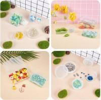 DIY-3042 塑膠方包裝盒 PP正方形盒 小五金盒飾品收納盒3個裝