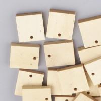 DIY-4003  4mm小孔麥色切割正方形木吊墜200個裝