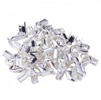 DIY-2056  銀色銅龍蝦扣帶尾扣 diy手鏈項鍊飾品配件材料10個裝