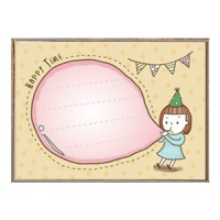 Memo印章-小女孩吹氣球