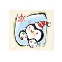 楓木印章 - F155 - 聖誕歡樂 聖誕企鵝