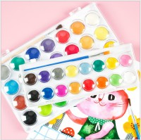 MTF-109 固體水彩顏料套裝初學者手繪水粉餅12色/16色