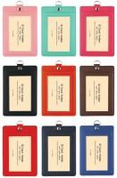 NA-20073 (直式) 拼色雙層識別證件套/識別證套/出入証套/工作證套/票卡夾/萬用票夾/卡套