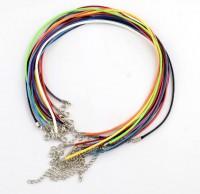 DIY-8071 1.5mm蠟線項鍊繩diy手工彩色項鍊繩飾品配件20條