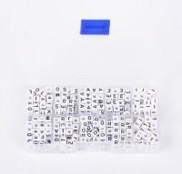 DIY-5034-35 6mm亞克力英文字母大孔方形串珠-A/B