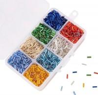 DIY-7013 彩色喇叭玻璃珠子混款盒裝手工串珠材料