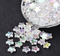DIY-5033  10mm透明彩星亞克力飾品配件-100粒