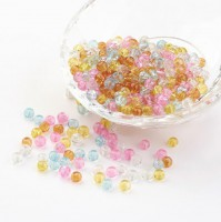 DIY-7095  6mm爆花彩色玻璃珠子組合diy串珠-100粒裝