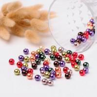 DIY-7092-94   4mm 6mm 8mm秋季混色玻璃仿珍珠 diy圓珠串珠100/200/400粒裝