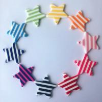DIY配件 - 條紋星星配飾