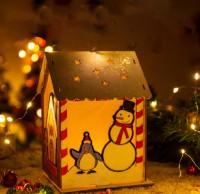 MKT-002 聖誕節手工diy木質房子材料包