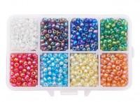 DIY-7001 4mm圓形玻璃米珠盒裝串珠材料